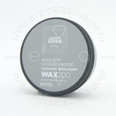 Воск для укладки волос сильной фиксации ALPHA HOMME 200мл.