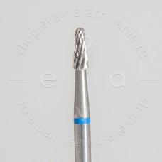 Фреза для снятия искусственного покрытия, маленькая (усеченный конус) синяя насечка.