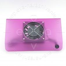 Пылесос маникюрный фиолетово-прозрачный, широкий, 25w