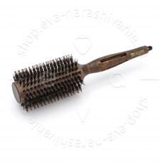 Брашинг деревянный Престиж натуральная щетина с хвостиком d 33/60 мм DEWAL