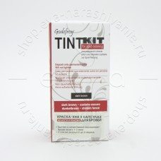 Godefroy TINT KIT Brown Краска-Хна в капсулах для бровей dark brown, 80 капсул.