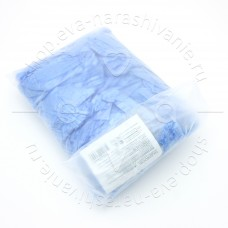 медицинские Бахилы из полиэтилена голубые 50 пар