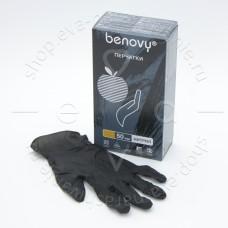 Benovy, Перчатки нитриловые черные, размер L, 100 шт.
