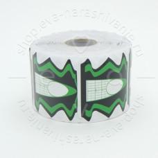 MIRAGE, Одноразовые формы, зелено-черные, 500 шт.