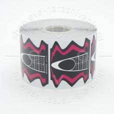 MIRAGE, Одноразовые формы,розово-черные, 500 шт.
